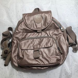 Kipling backpack Metallic Rose gold